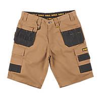 "DeWalt Ripstop Multi-Pocket Shorts Tan / Black 38"" W"