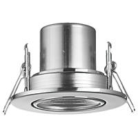 LAP CosmosEco Adjustable  Fire Rated LED Downlight Satin Nickel 500lm 4W 240V