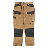 "Site Jackal Work Trousers Stone / Black 40"" W 32"" L"