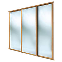 Spacepro Shaker 3 Door Framed Sliding Wardrobe Mirror Doors Mirror 1680 x 2260mm