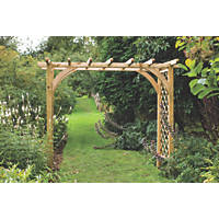 Forest Ultima Garden Pergola Arch Natural Timber 2.70 x 1.36 x 2.45m
