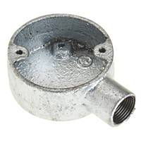 Deta 1 Way 20mm Terminal Conduit Box Galvanised