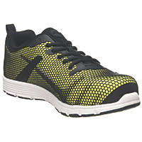 Site Donard   Safety Trainers Black / Yellow Size 9