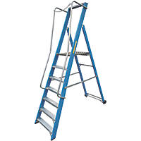 Lyte Fibreglass & Aluminium Platform Step Ladder 7 Treads 2.47m