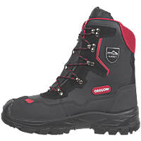 Oregon Yukon Leather Chainsaw Safety Boots Black Size 10.5