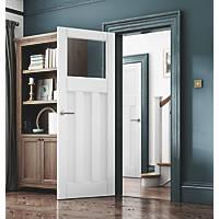 Jeld-Wen Deco 3-Clear Light Primed White Wooden 3-Panel Internal Door 1981 x 610mm