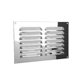 Xpelair Gas Louvre Vent Stainless Steel 189 X 126mm Air