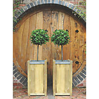 Forest Square Planter  400 x 400 x 750mm 2 Pack