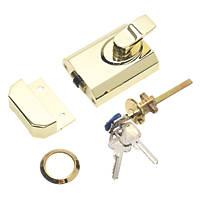 Eurospec SFRCB8260PB Rim Cylinder Rollerball Polished Brass 60mm Backset