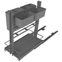 Hafele Anthracite Pull-Out Kitchen Shelves with 4 Baskets 300mm