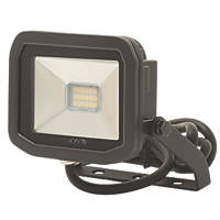 Luceco LFS6B130 LED Slim Floodlight 8W Black Warm White