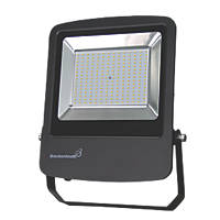 Brackenheath Rex LED Industrial Floodlight & Photocell With Photocell Black 150W