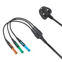 Kewtech 4mm Mains Test Lead 13A Plug Adaptor 1.16m
