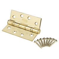 Smith & Locke Square Ball Bearing Hinge Fire Rated 102 x 76mm 2 Pack