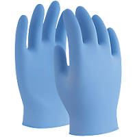 UCI Nova Nitrile Powder-Free Disposable Gloves Blue Medium 100 Pack