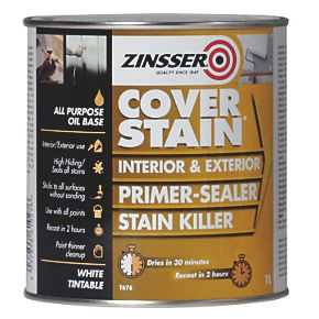 Zinsser Cover Stain Primer White 1ltr Specialist Paints