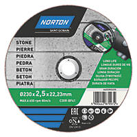 "Norton  Stone Cutting Disc 9"" (230mm) x 2.5 x 22.2mm"