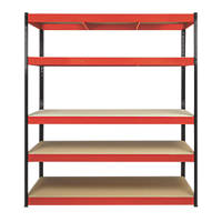 RB Boss Powder-Coated Boltless Freestanding Shelving 5-Tier 900 x 300 x 1800mm