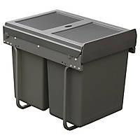 Hafele  Kitchen Cabinet Pull-Out Bin Grey 40Ltr