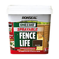Ronseal Sprayable OneCoat Fencelife 5L DarkOak
