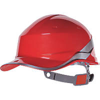 Delta Plus Diamond V Premium Push-Button Safety Helmet Red