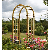 Rowlinson  Round Top Arch Natural Timber 1.24 x 0.65 x 2.5m