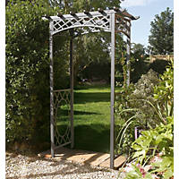 Rowlinson Wrenbury Arch Gun Metal Grey 1100 x 610 x 2200mm