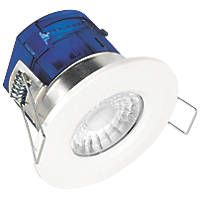 Aurora X7 4000K Fixed Cylindrical Fire Rated LED Downlight White 580lm 7W 240V