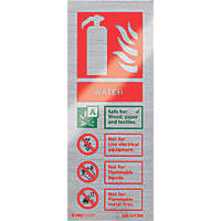 "Firechief  ""Water"" Fire Safety Sign 200 x 80mm"