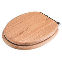 Croydex Rutland Soft-Close with Quick-Release Toilet Seat Solid Oak Natural
