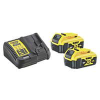 DeWalt DCB115P2-GB 18V 5.0Ah Li-Ion XR Battery Starter Pack