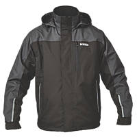 "DeWalt Storm Waterproof Jacket Black / Grey Large 42-44"" Chest"