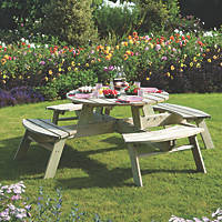Rowlinson  Round Picnic Table 2000 x 2000 x 720mm