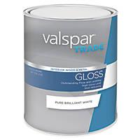 Valspar Trade Wood & Metal Paint Pure Brilliant White 1Ltr