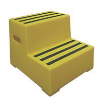 Polyethylene 2-Step Safety Steps 415mm Yellow