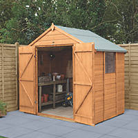 Forest Delamere 7' x 5' (Nominal) Apex Shiplap Timber Shed with Base