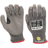 Tilsatec 50-5111 Cut 5/E PU Gloves Grey / Black Large