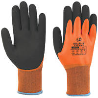 UCI Aquatek Thermo Full-Dip Latex Thermal Gloves Orange Large