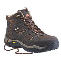 Hyena Ravine Waterproof Safety Boots Brown Size 11