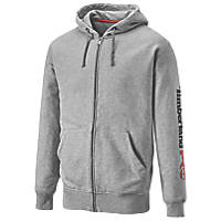 "Timberland Pro Honcho Sport Zip  Hood Sweatshirt  Grey Marl  Large 45"" Chest"