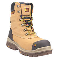 CAT Premier Metal Free  Safety Boots Honey Size 11