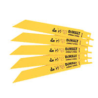 DeWalt DT2345-QZ Reciprocating Saw Blade 152mm 5 Pack