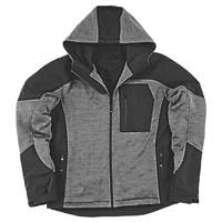"Site Rowan Fleece-Lined Winter Hoodie Black / Grey Large 51"" Chest"