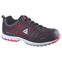 Delta Plus Sportline Metal Free  Safety Trainers Black / Red Size 7