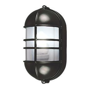 caged bulkhead wall light black 240v bulkhead fittings. Black Bedroom Furniture Sets. Home Design Ideas