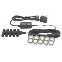 Apollo White LED Deck Light Kit Daylight Pol. Stainless Steel 45mm 10 Pack