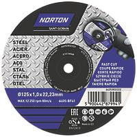 "Norton Metal Cutting Disc 5"" (125mm) x 1 x 22.23mm"