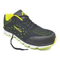 Goodyear GYSHU1571   Safety Trainers Black / Green Size 9