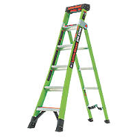 Little Giant 2-Section 3-Way Fibreglass & Aluminium 3-in-1 Extension Ladder  3m