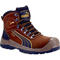 Puma Sierra Nervada Mid Metal Free  Safety Boots Brown Size 10.5